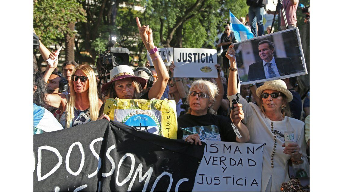 Realizaron una marcha a un año de la muerte del fiscal Alberto Nisman