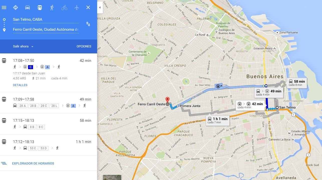 Google Maps deja armar recorridos en colectivo por la Ciudad: ¿cómo se usa?