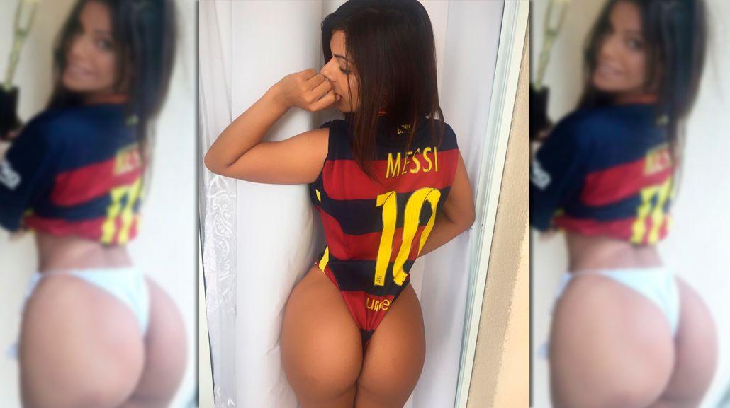 Gana en todos lados: Miss Bumbum celebró el Balón de Oro de Messi