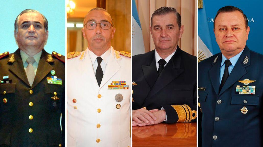 El Curriculum Vitae de los nuevos jefes de las Fuerzas Armadas
