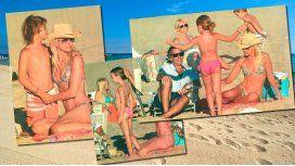 Valeria Mazza en la playa; su rol de madre y el amor de su marido