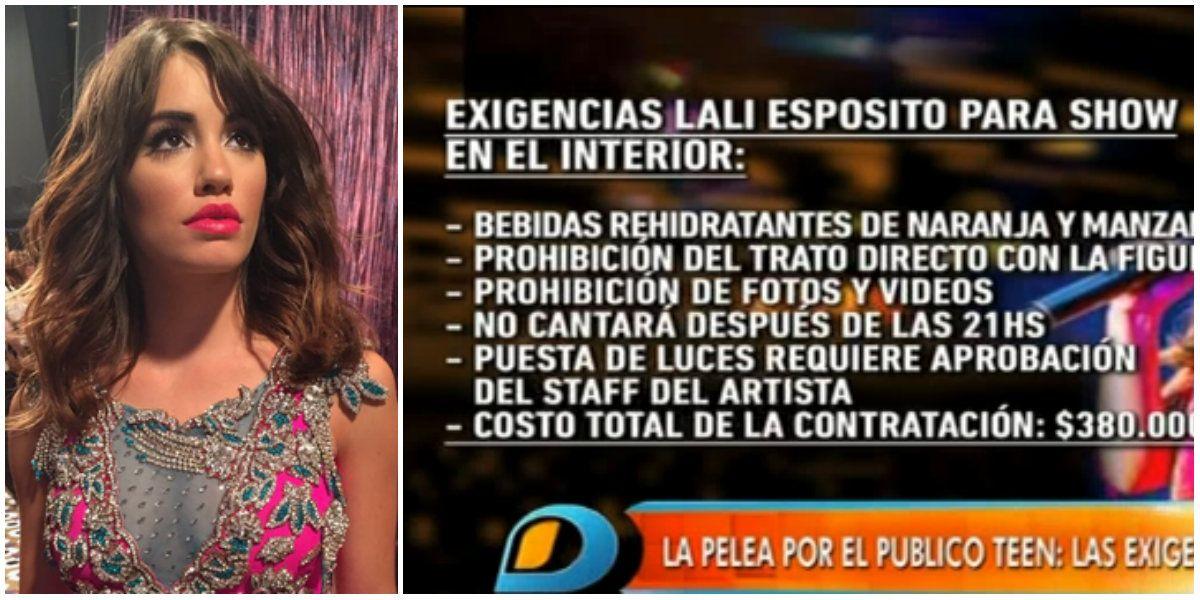 Sugerente mensaje de Lali Espósito por las exigencias para sus shows