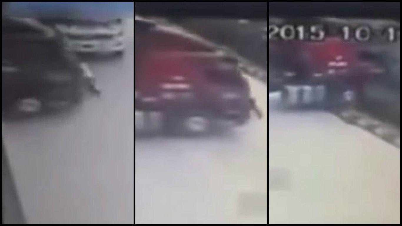 Insólito: intentó frenar un camión con su fuerza