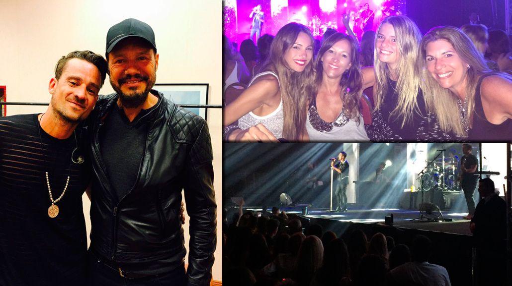 El show top de Tan Biónica en Punta del Este: Marcelo Tinelli, Guille Valdes y Pampita, en primera fila