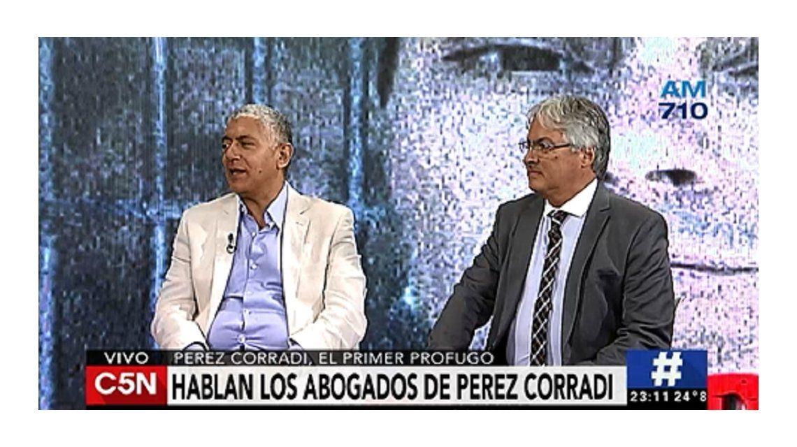 Los abogados aseguran que Pérez Corradi se va a entregar