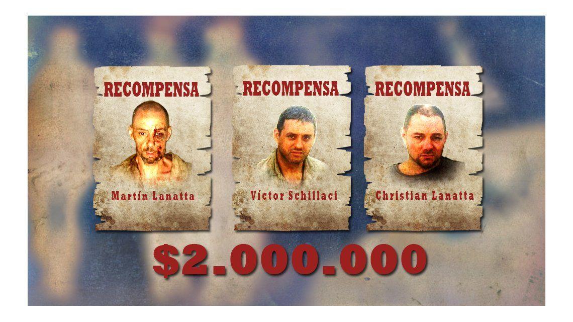 ¿Habrá recompensa por la captura de los prófugos?