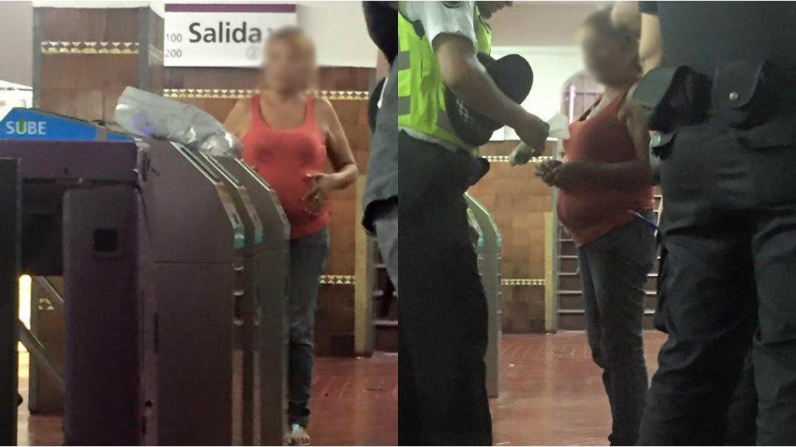 Una mujer denunció que quisieron drogarla con un cartón de hebillas en el subte