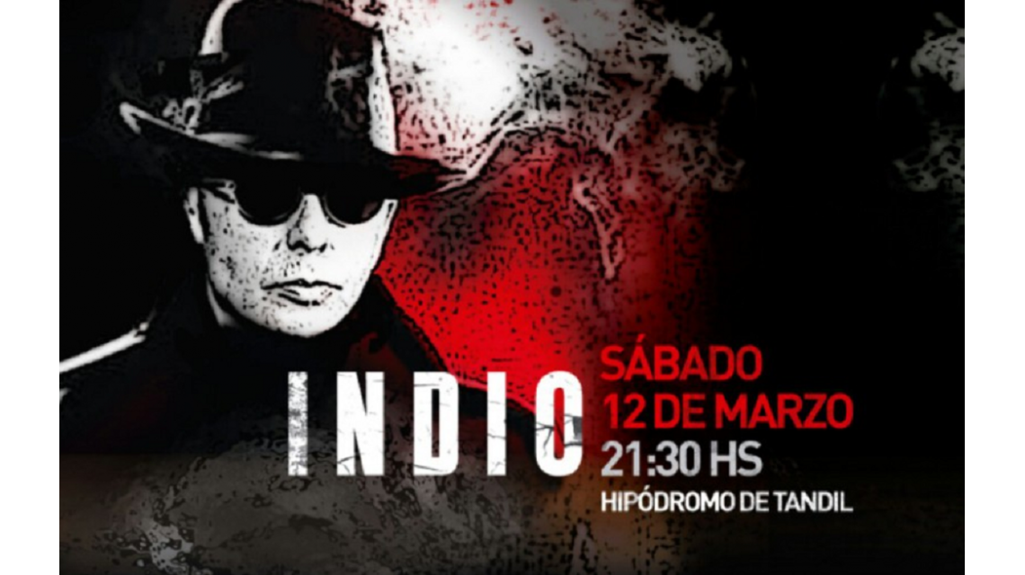 El Indio Solari tocará el sábado 12 de marzo en Tandil