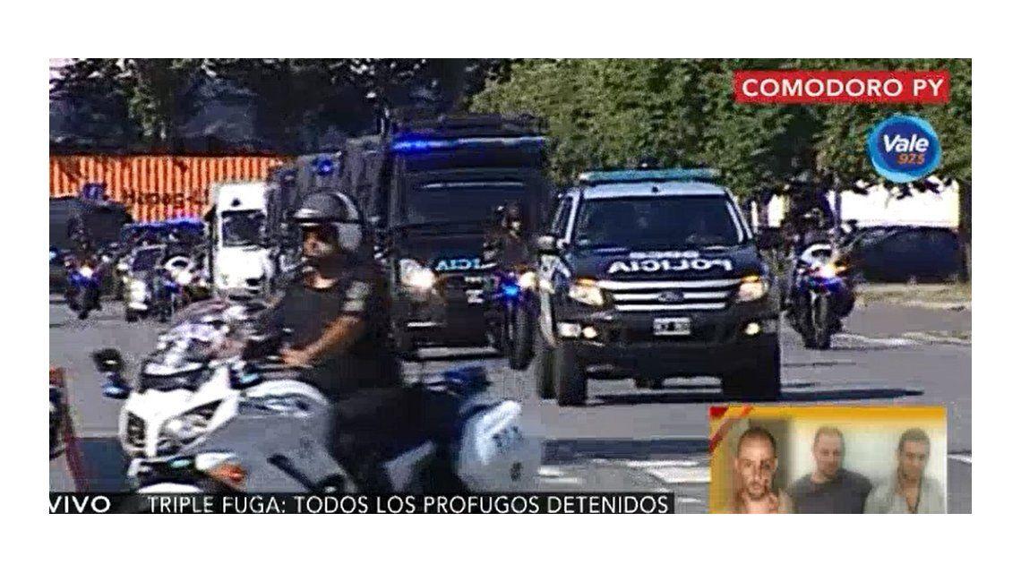 VIDEO: Así llegaron Cristian Lanatta y Víctor Schillaci a Comodoro Py
