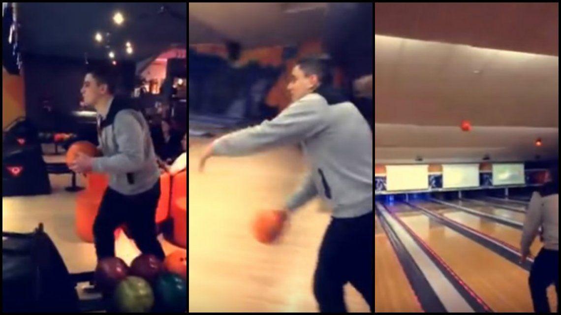 Lanzó una bola de bowling y terminó en un desastre