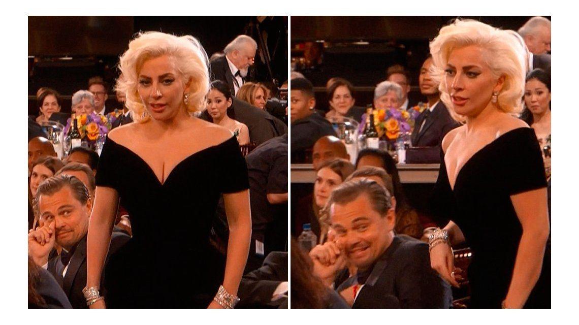 La reacción incómoda de Leonardo Dicaprio cuando vio a Lady Gaga