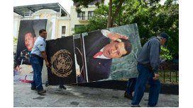 El nuevo presidente de la Asamblea venezolana retiró los cuadros de Chávez