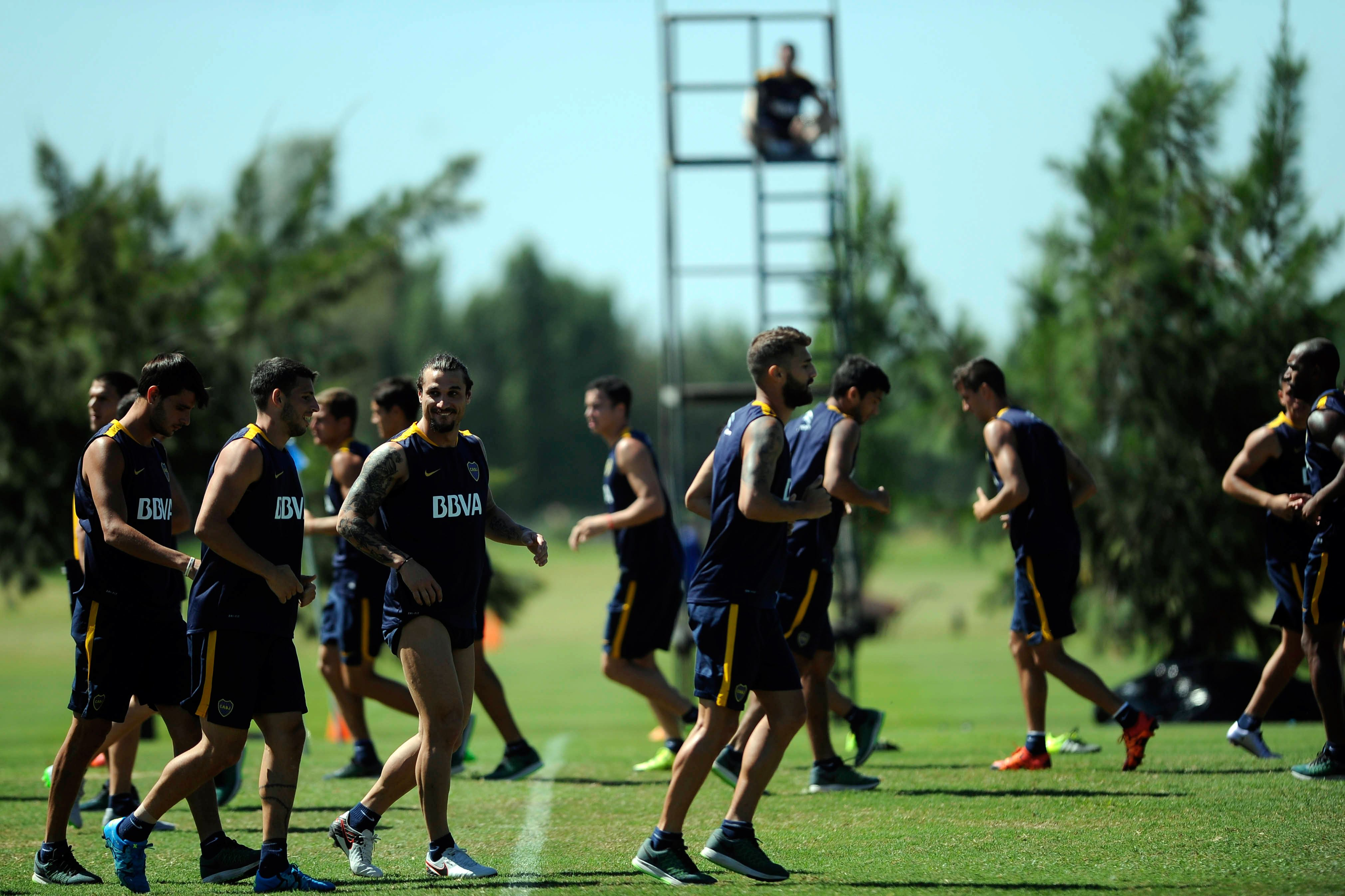 Daniel Osvaldo se entrenó por primera vez con Boca en su vuelta