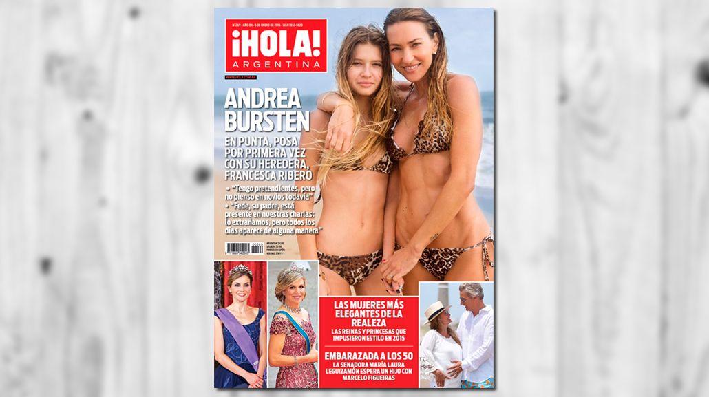 Tras la muerte de Federico Ribero, Andrea Bursten posó por primera vez con su hija