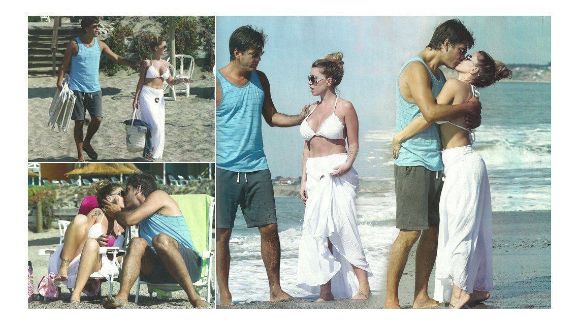 Flor Peña y su novio, Ramiro, súper enamorados en la playa