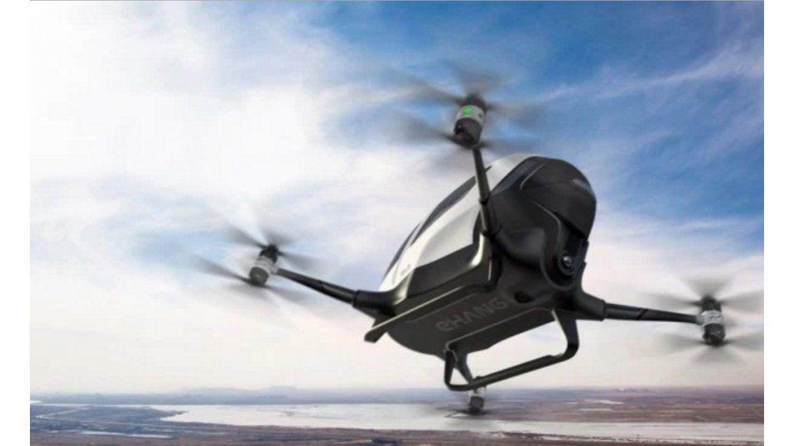¿Cómo sería el primer drone capaz de transportar a una persona?