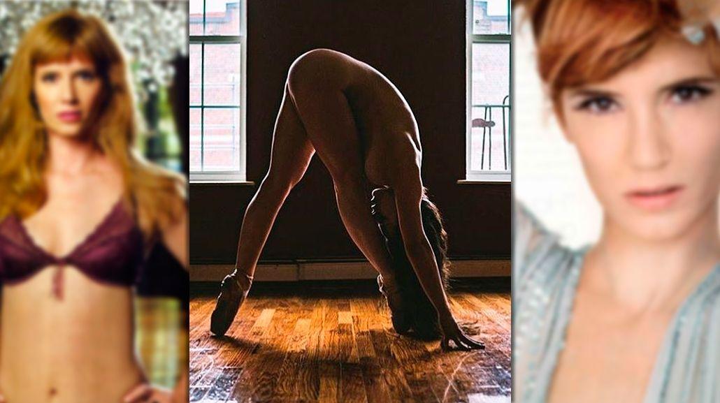 Completamente desnuda, Griselda Siciliani muestra sus destrezas artísticas