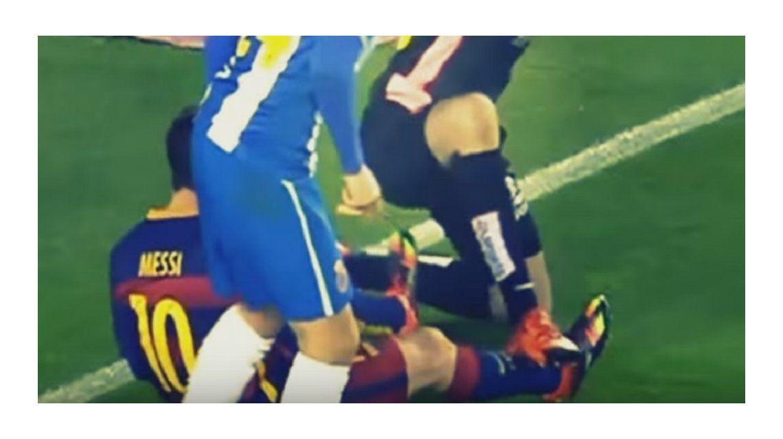¡Es de hierro! Mirá el terrible pisotón que sufrió Lionel Messi