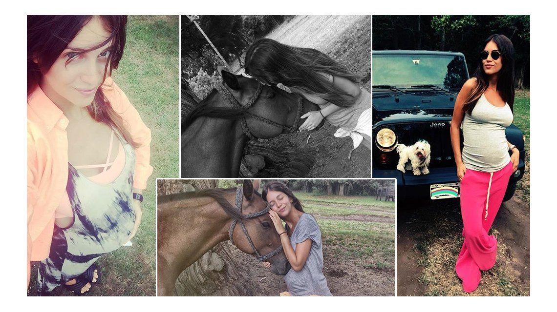 Embarazada, Zaira Nara disfruta de la vida campestre: mirá las fotos