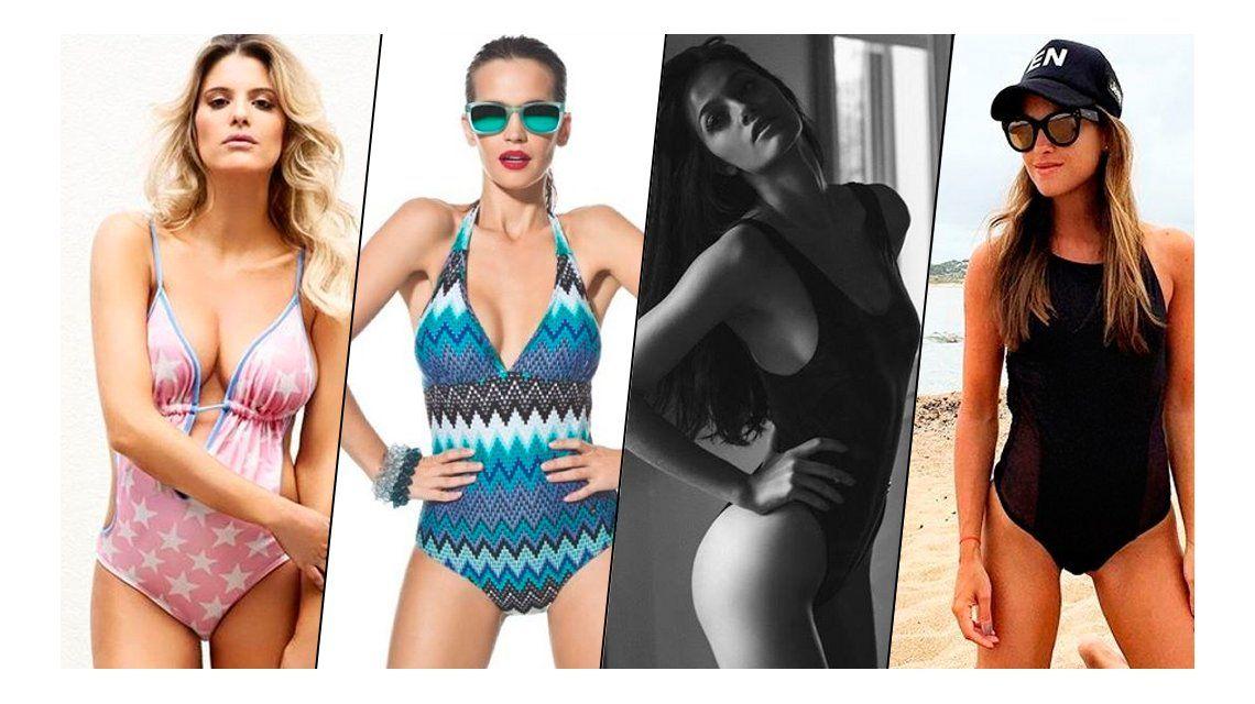 Volvió la malla enteriza: las famosas que dejan la bikini de lado