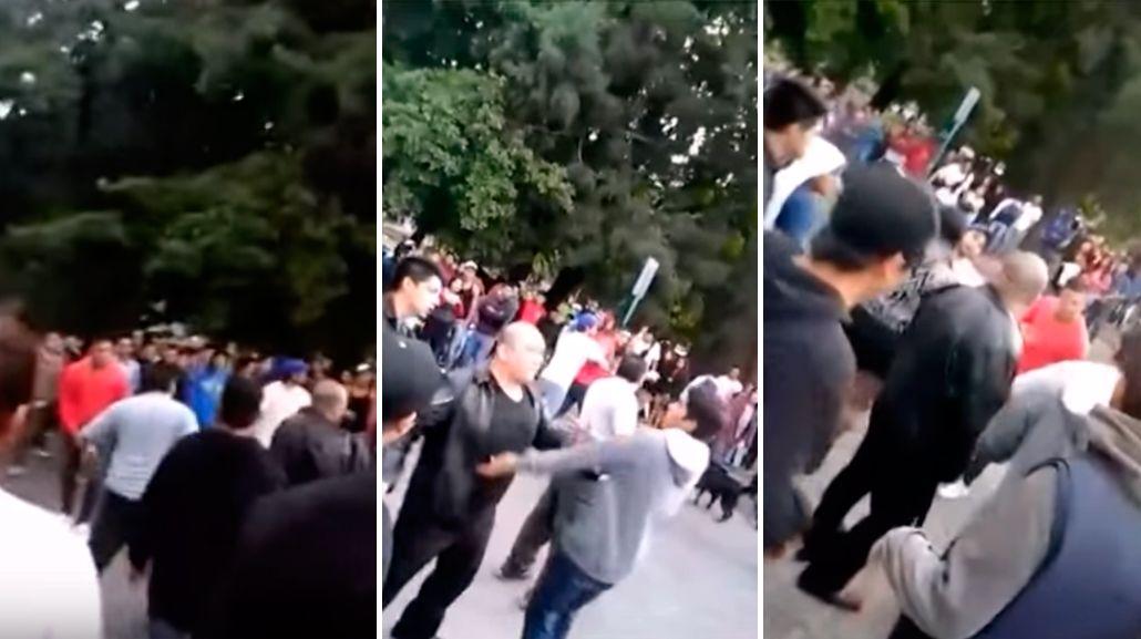 Tremenda pelea de jóvenes con patovicas en el centro de Bariloche