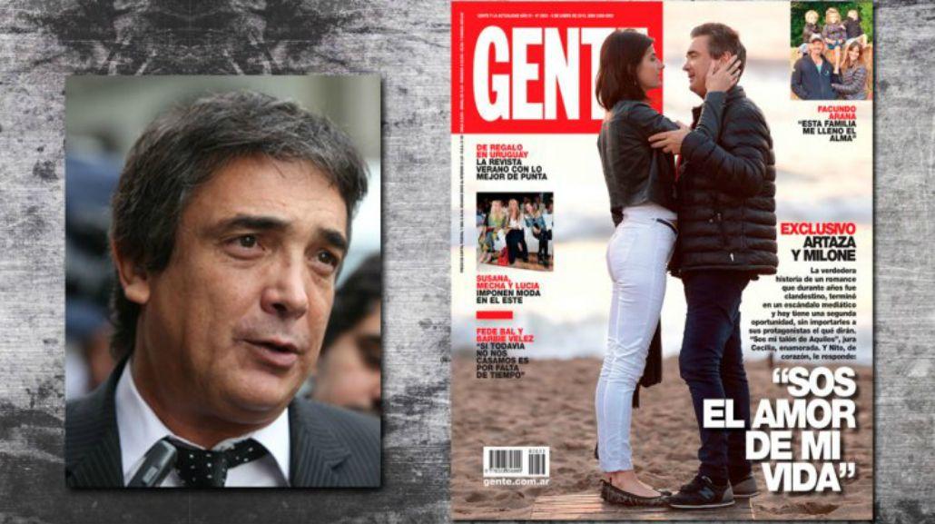 La furia de Nito Artaza con la revista Gente: Yo no hice ninguna declaración de amor