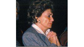 Murió la esposa de Alfonsín, María Lorenza Barreneche