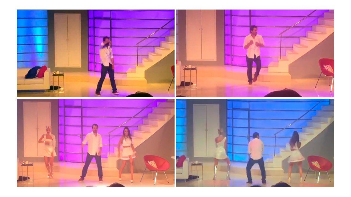 El alocado baile de Pedro Alfonso en el teatro