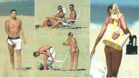Gago y su mujer, rockeros en Punta: mimos ¡y lomazos al sol!