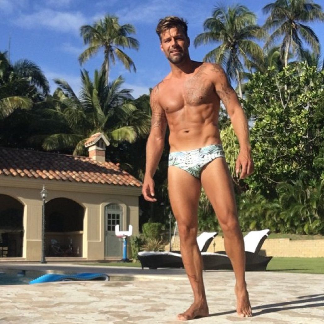 Ricky Martin, bombón a los 44: lució sus tatuajes, una sunga ¡y revolucionó las redes!