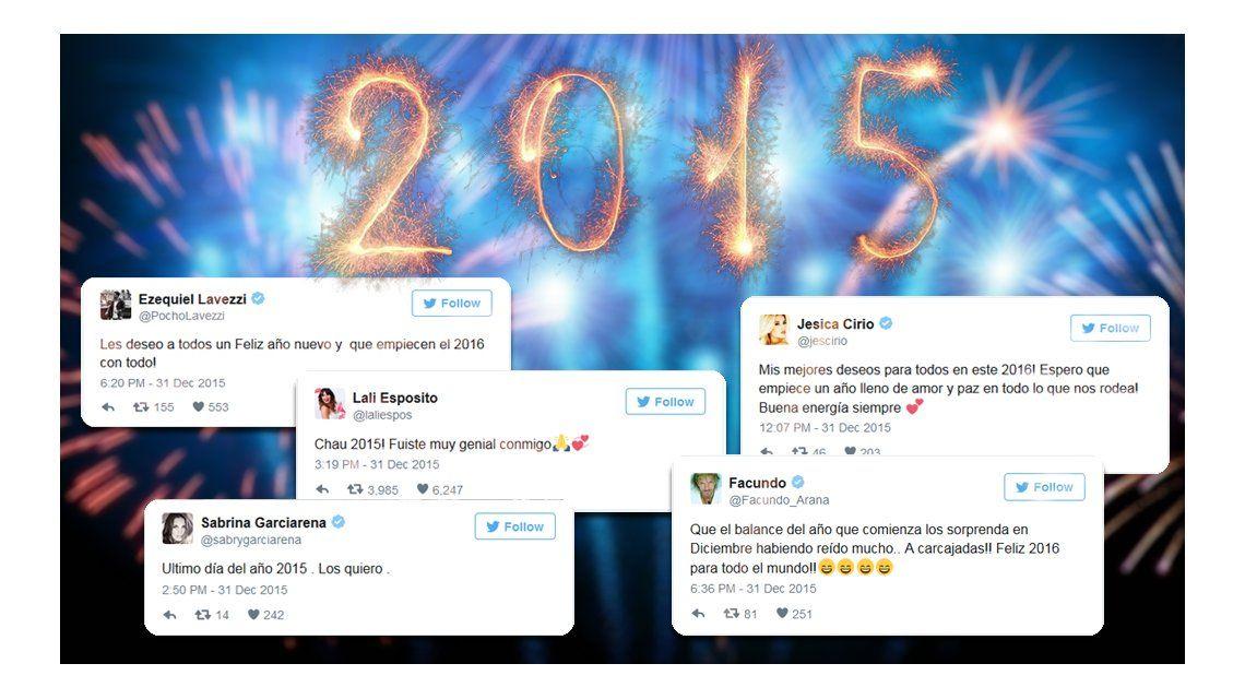 Los famosos despidieron el 2015 en las redes con emotivos mensajes
