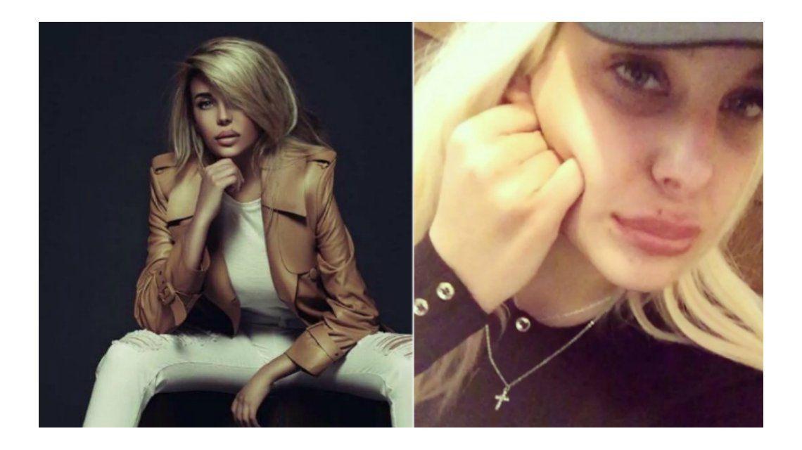 Charlotte Caniggia: su perfil verdadero vs. los efectos del Photoshop