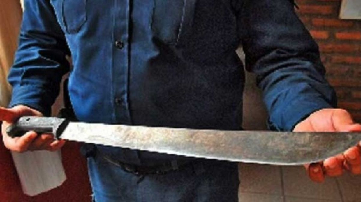 El loco del machete: en plena cena navideña atacó a toda su familia