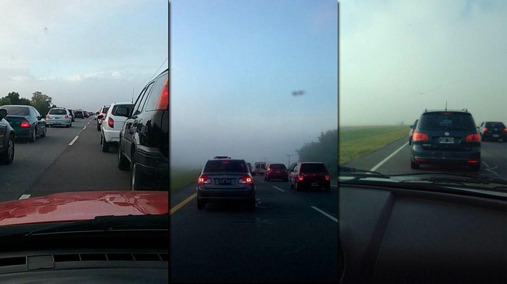 Arrancó el éxodo de Fin de Año: la ruta 2 cargada, con neblina y lluvias