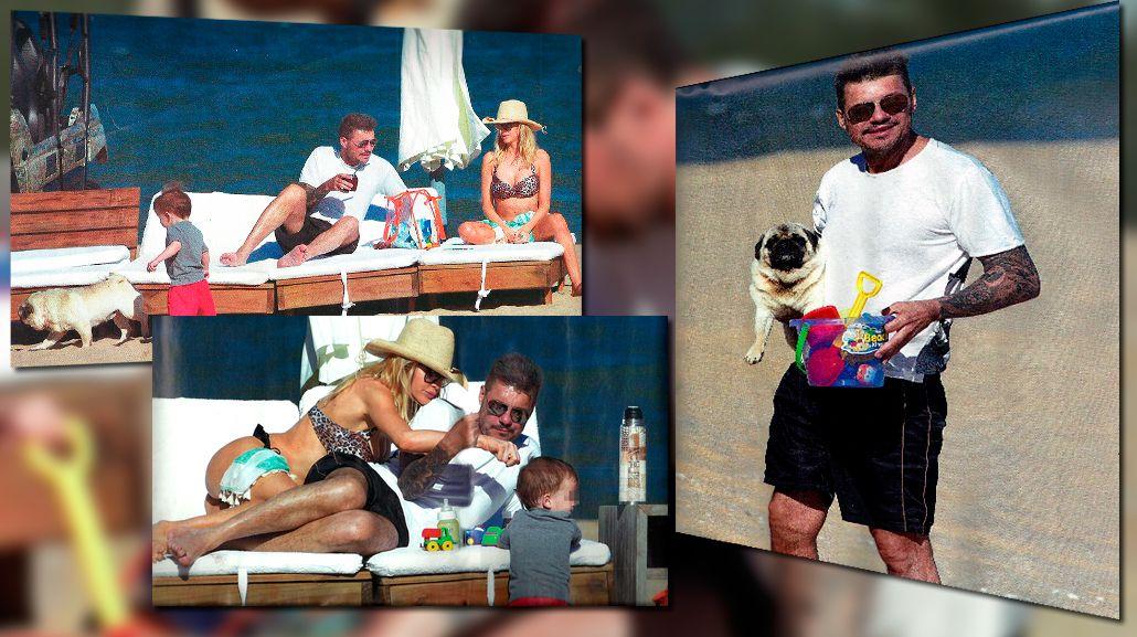 Las fotos de las vacaciones de Marcelo Tinelli, Guillermina Valdes y Lorenzo