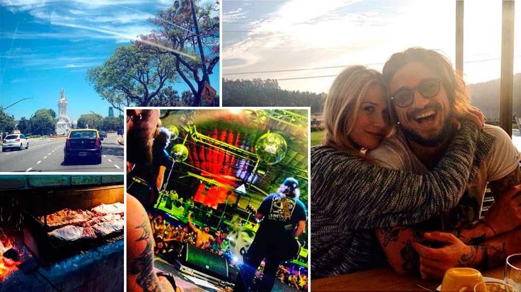 Las postales porteñas de Daniel Osvaldo y su novia, Benedetta Mazza