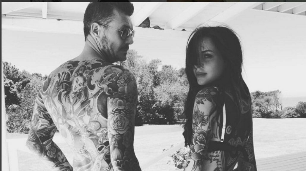 Marcelo Tinelli y su hija Candelaria, súper tatuados: El carnero y el escorpión