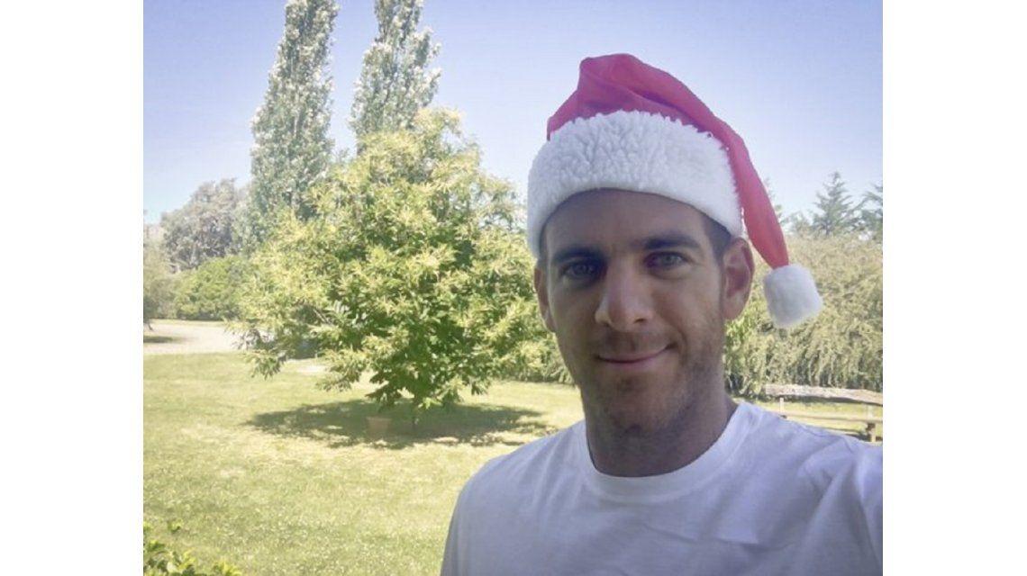 Desde Tandil, Del Potro escribió en Twitter y deseó una feliz Navidad
