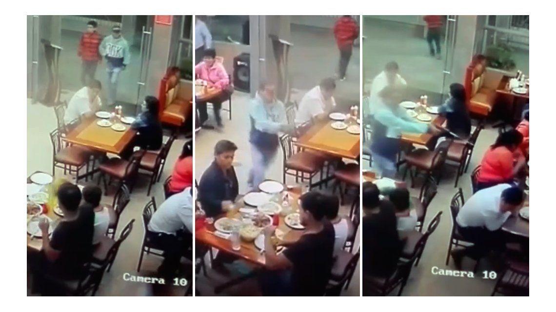 Impactante: registran un asesinato a sangre fría en un restaurante