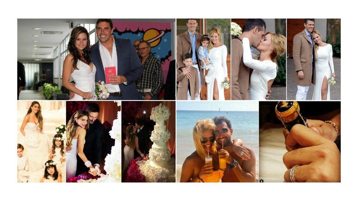 Los famosos que dieron el sí en 2015: mirá las fotos de sus casamientos