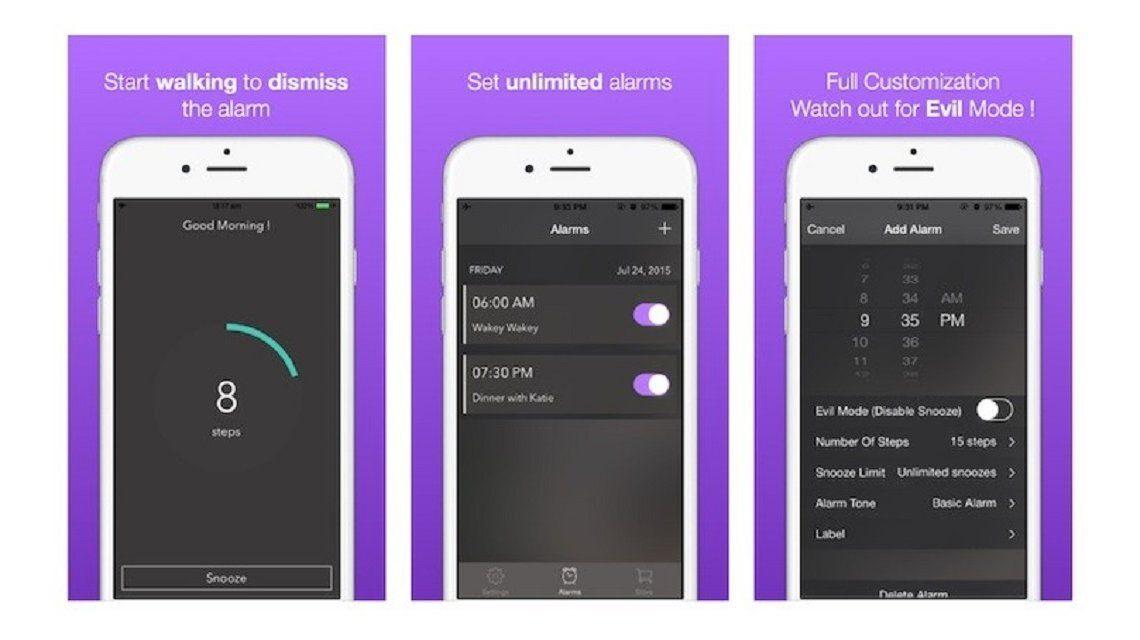 Walk Me Up, una app que te obliga a caminar para apagar la alarma