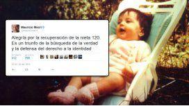 Macri le deseó a Chicha y a su nieta una feliz Navidad de reencuentro