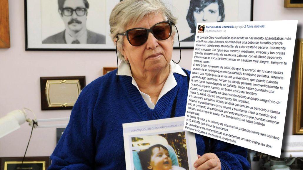 #Nieta120 Las emotivas cartas de Chicha Mariani a Clara Anahí
