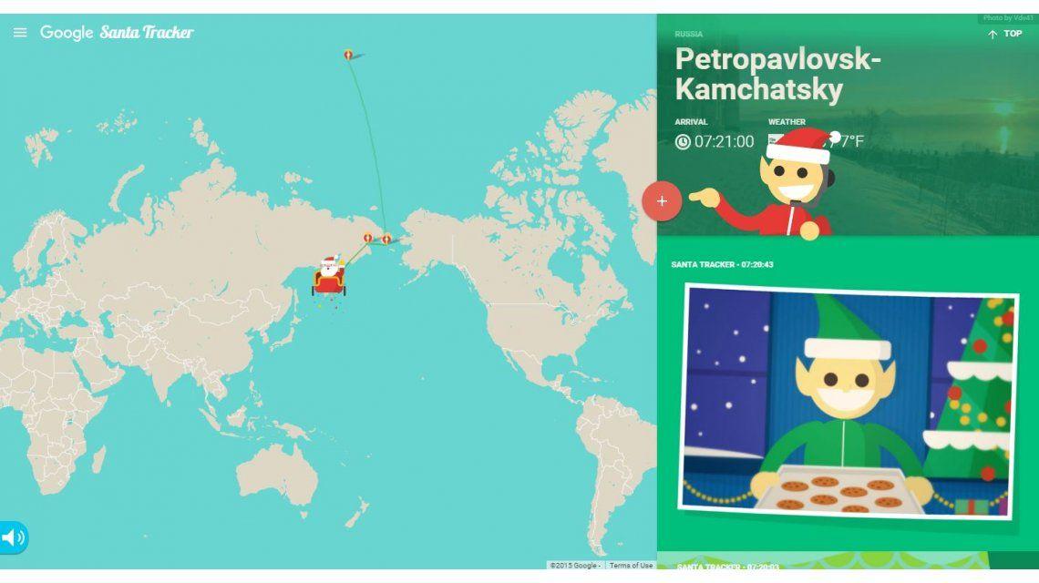 Santa Tracker: seguí en vivo el recorrido de Papá Noel por todo el mundo