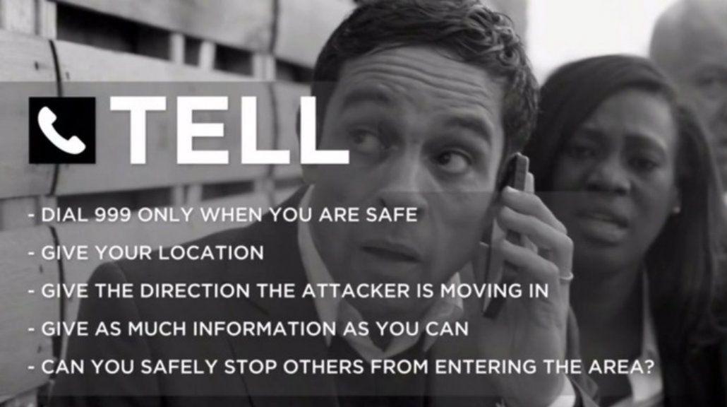 Publican un video de qué hacer durante un ataque terrorista en el Reino Unido