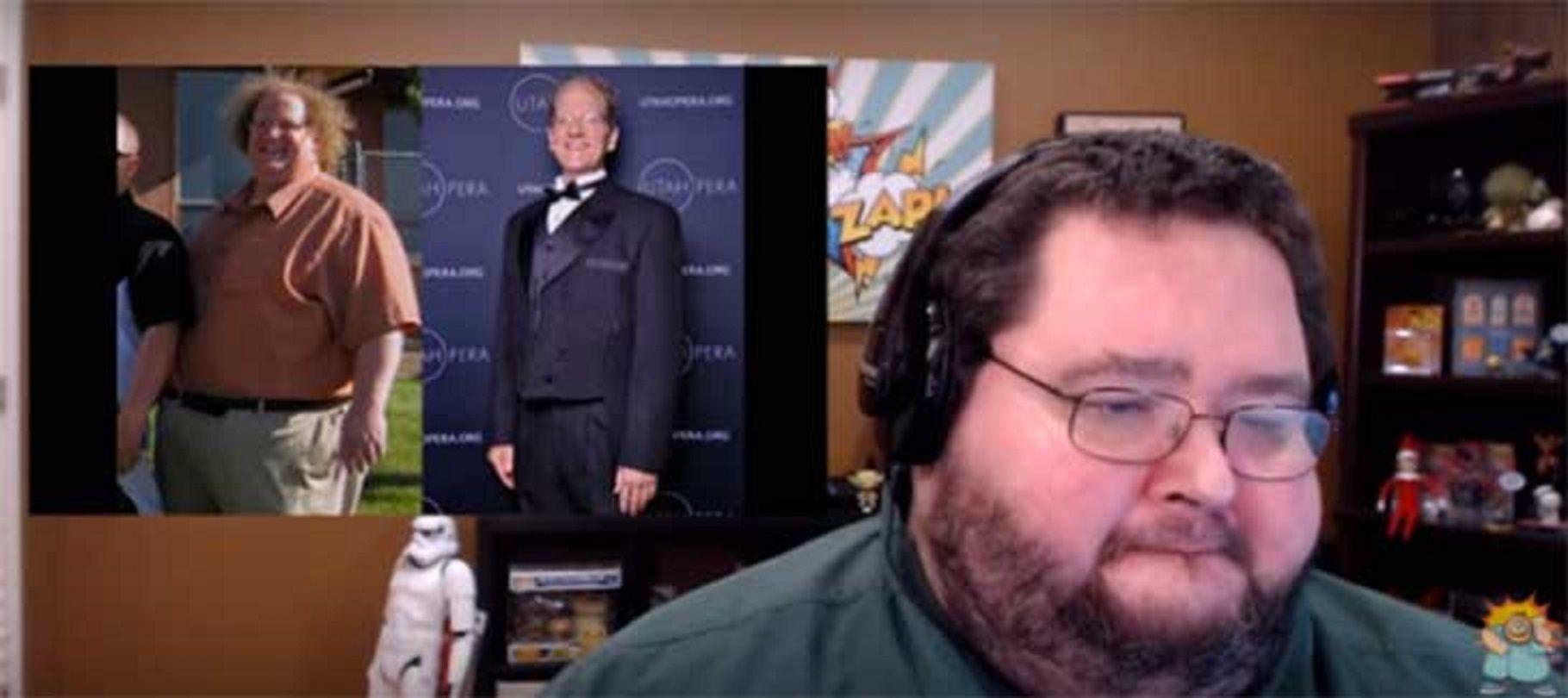 Así reacciona este hombre obeso al ver cómo otro hombre obeso perdió 150 kilos