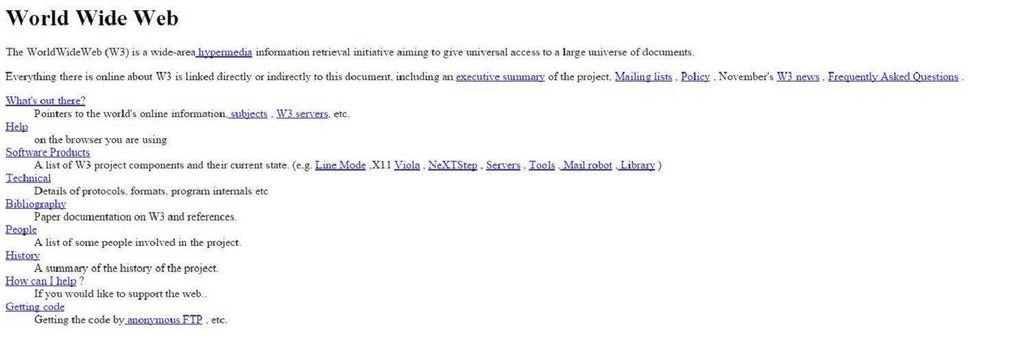 La primera página web de la historia cumple 25 años