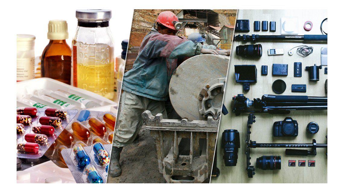 Macri eliminó retenciones a más de medio centenar de productos mineros e industriales