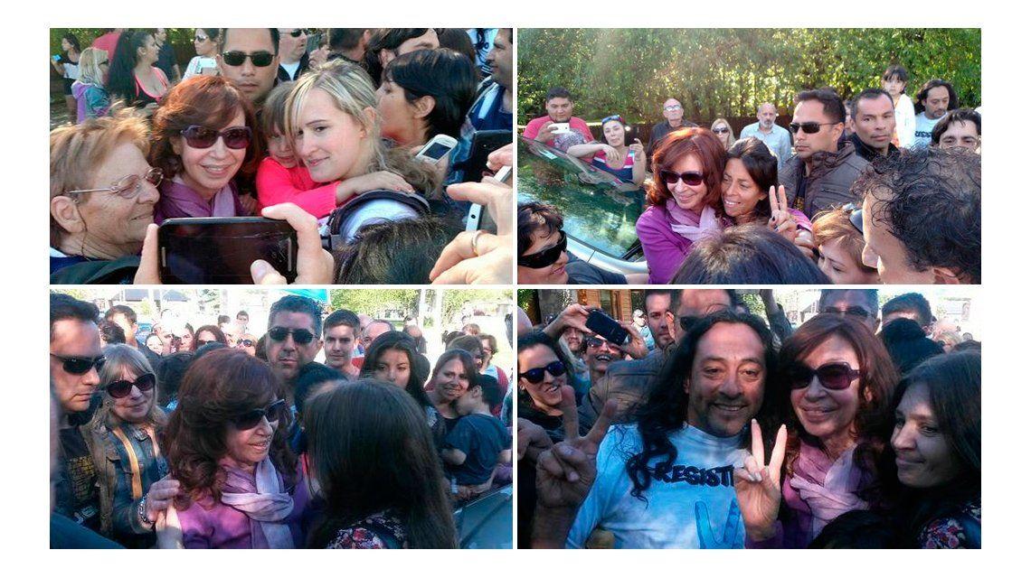 No nos dejes solos, Cristina, así recibieron a la ex Presidenta en El Calafate