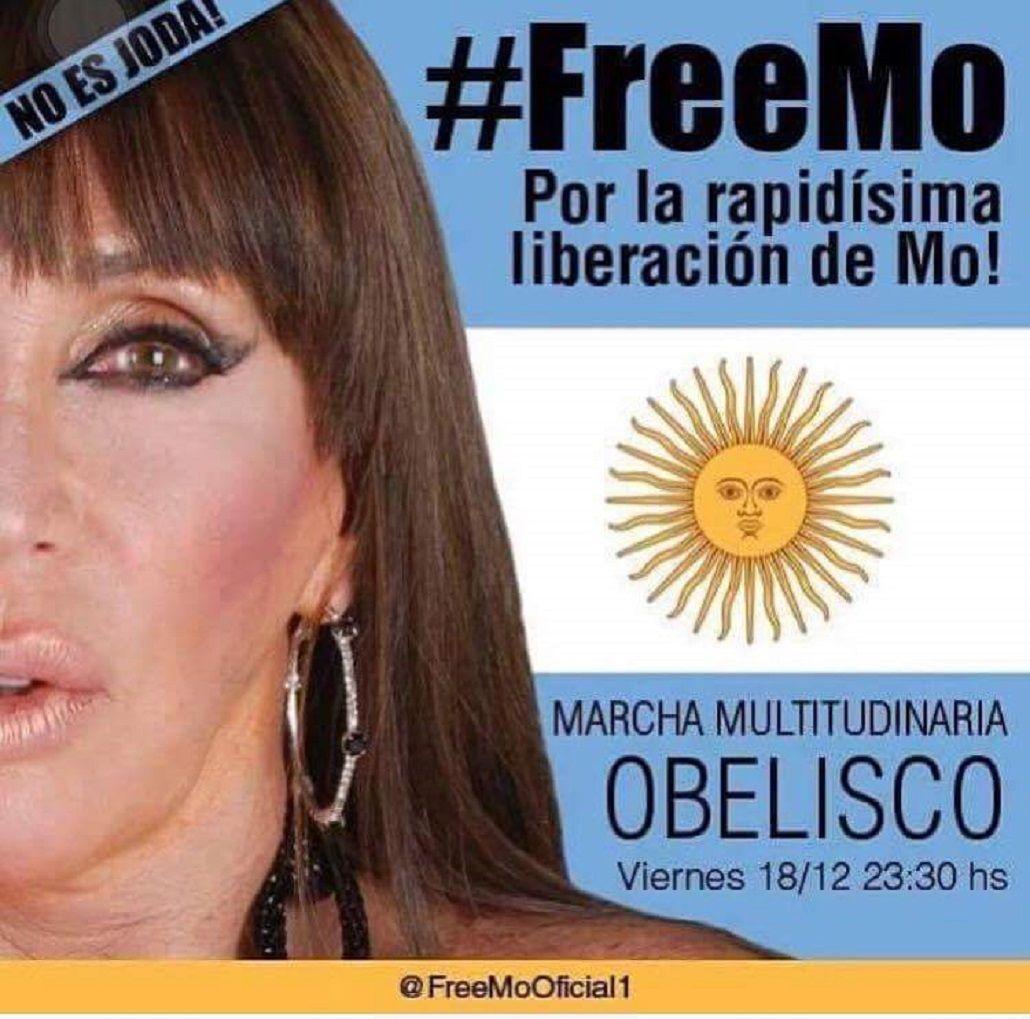 Al grito de #FreeMo, convocan a una marcha al Obelisco por la liberación de Moria Casán